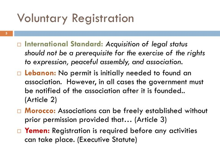 Voluntary Registration