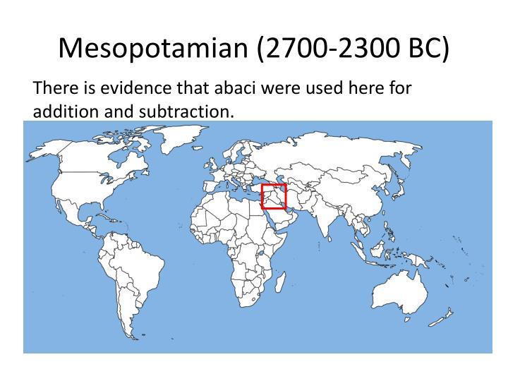 Mesopotamian (2700-2300 BC)