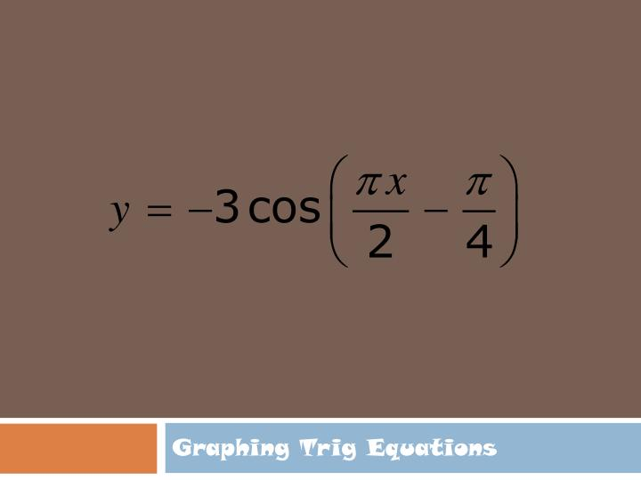 Graphing Trig Equations