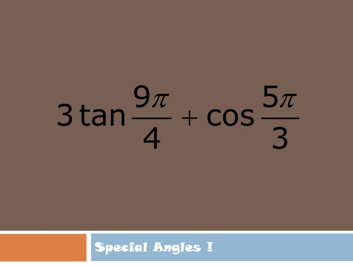 Special angles1