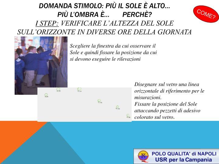 domanda STIMOLO: