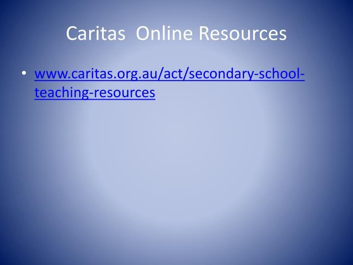 Caritas  Online Resources