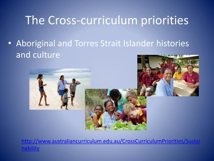 The Cross-curriculum priorities