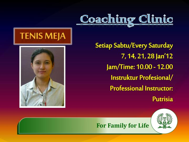 Coaching Clinic