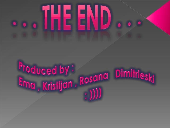 . . . The End . . .