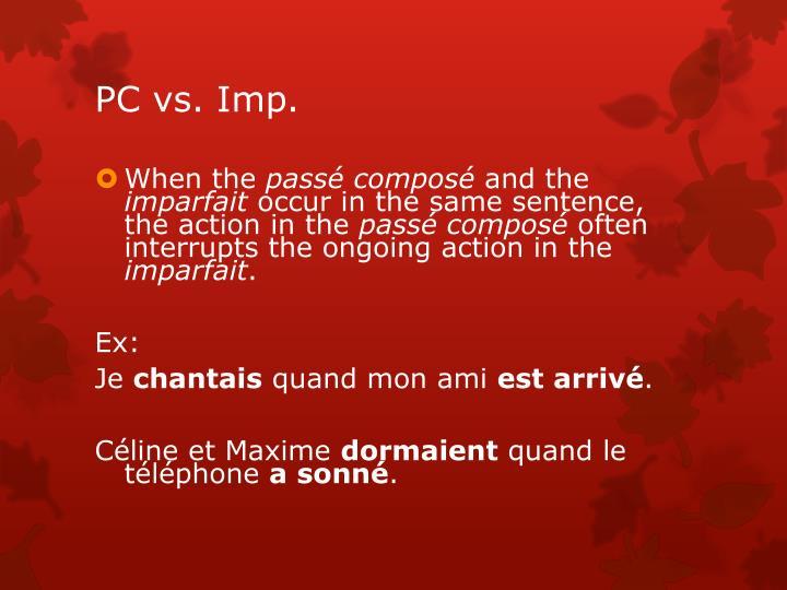 PC vs. Imp.