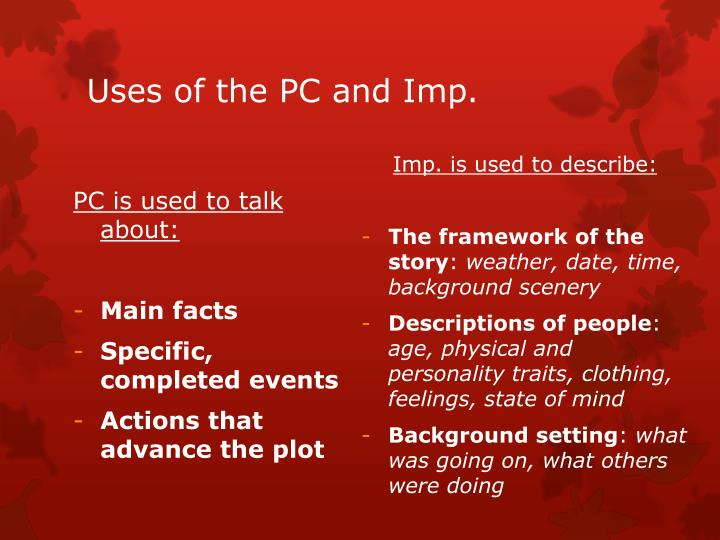 PC is used to talk about: