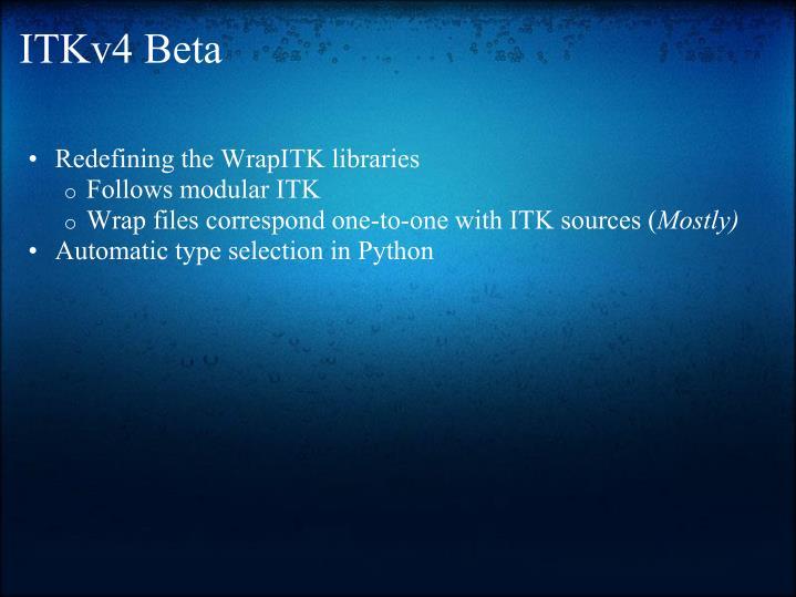 ITKv4 Beta