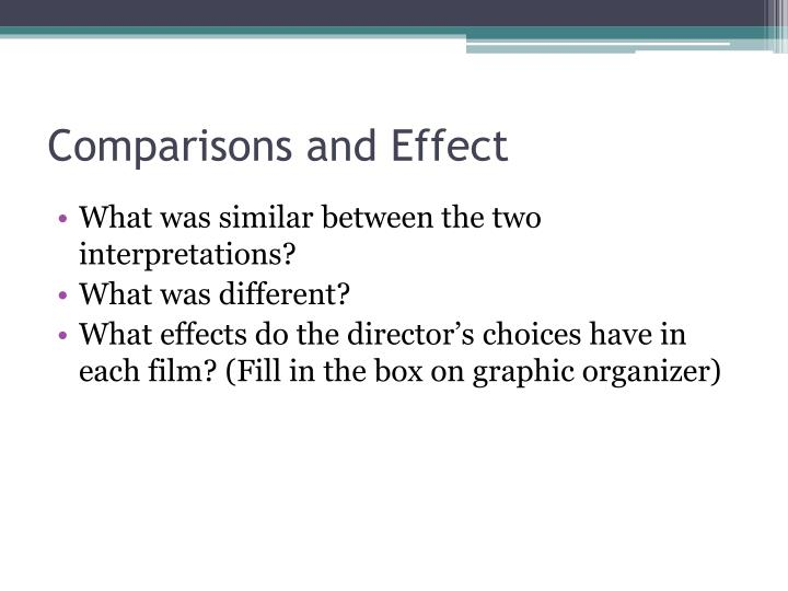 Comparisons and Effect