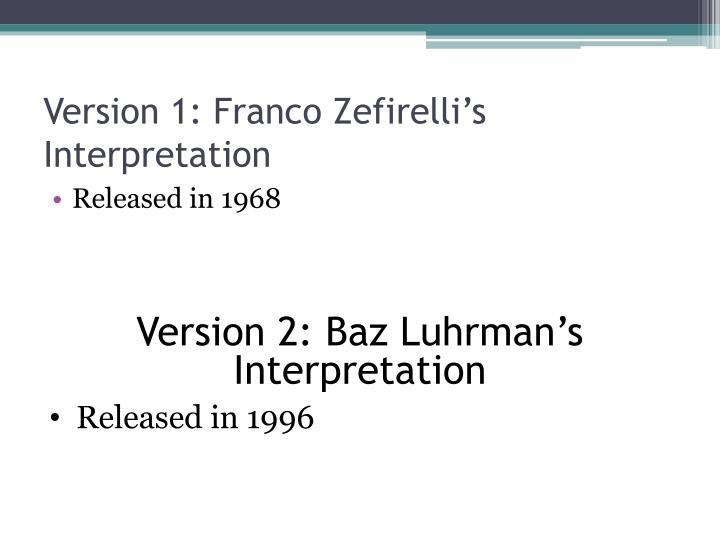 Version 1: Franco