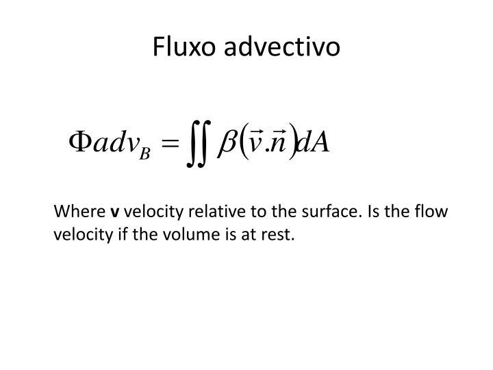 Fluxo advectivo