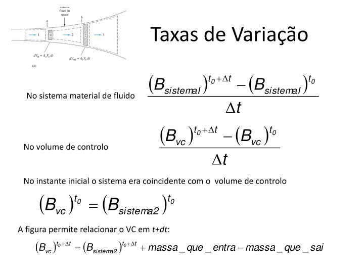 Taxas de Variação