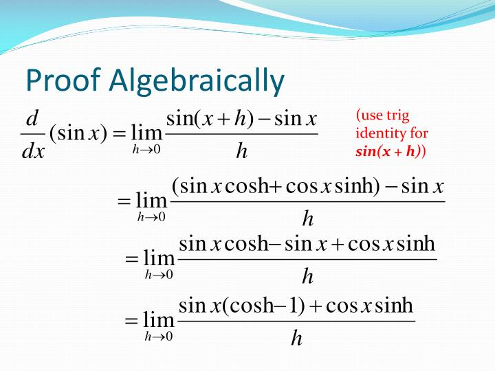 Proof Algebraically