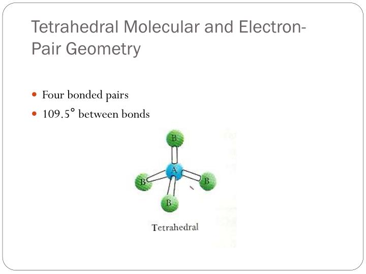 Tetrahedral Molecular and Electron-Pair Geometry