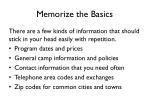 memorize the basics