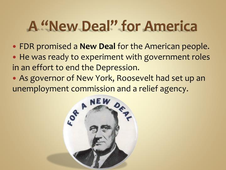 "A ""New Deal"" for America"