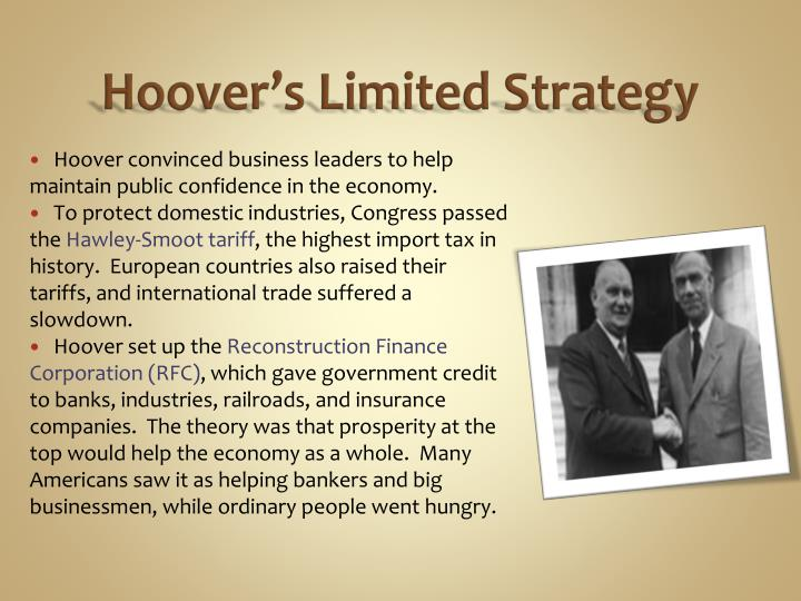 Hoover's Limited Strategy