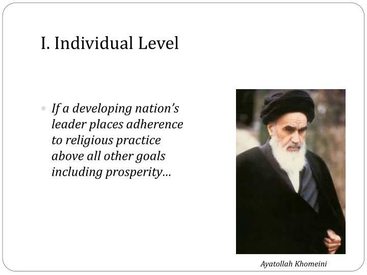 I. Individual Level