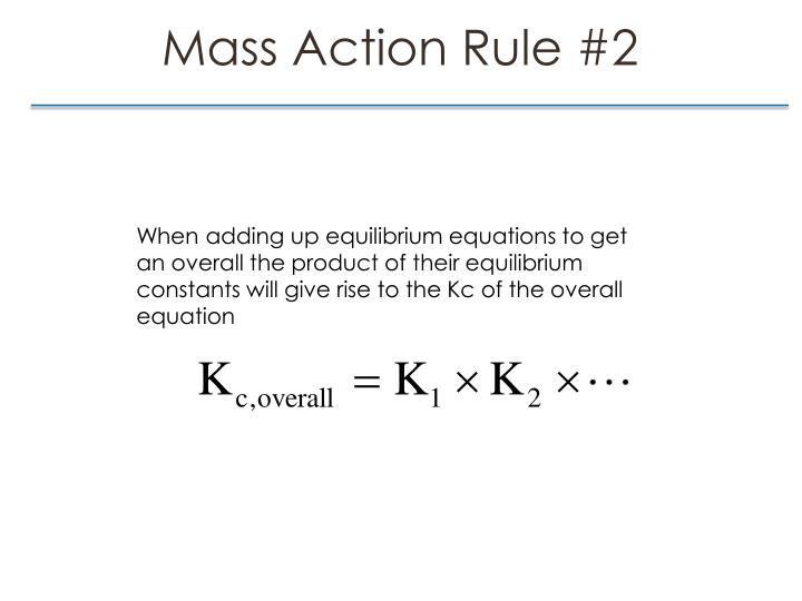 Mass Action Rule
