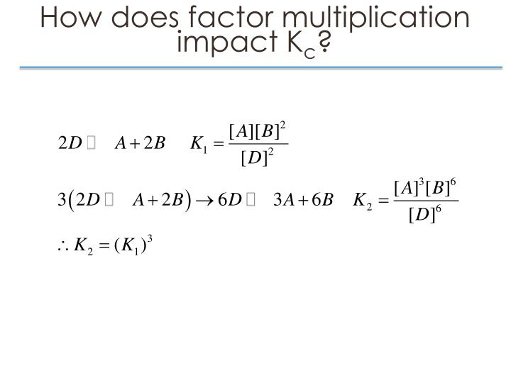 How does factor multiplication impact K