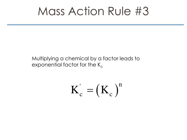 Mass Action Rule #3