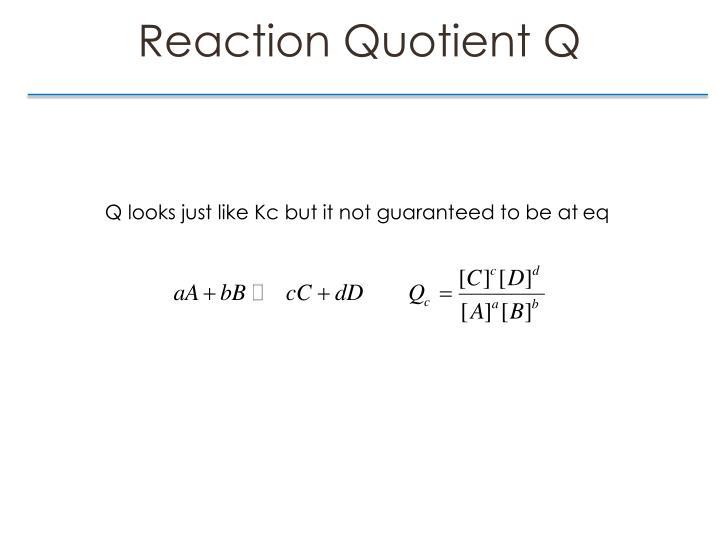 Reaction Quotient Q