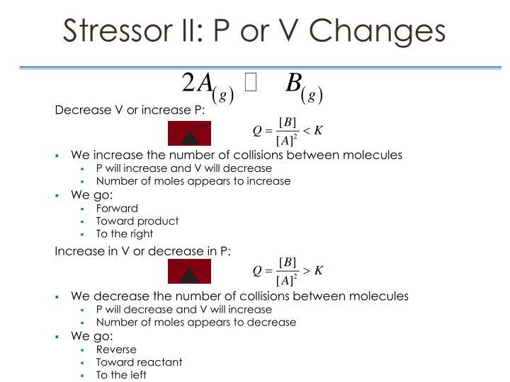 Stressor II: P or V Changes