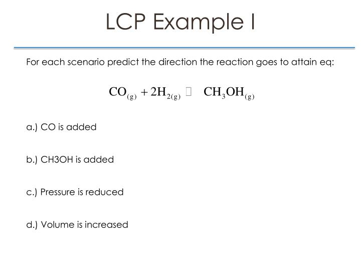 LCP Example I