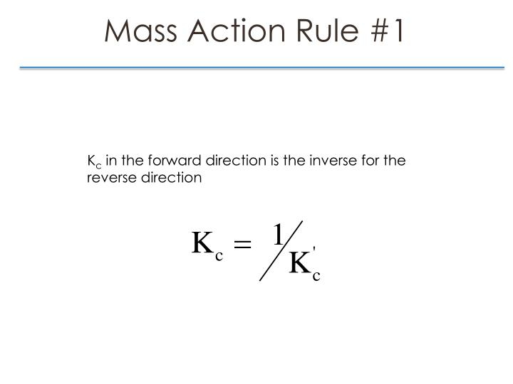Mass Action Rule #1