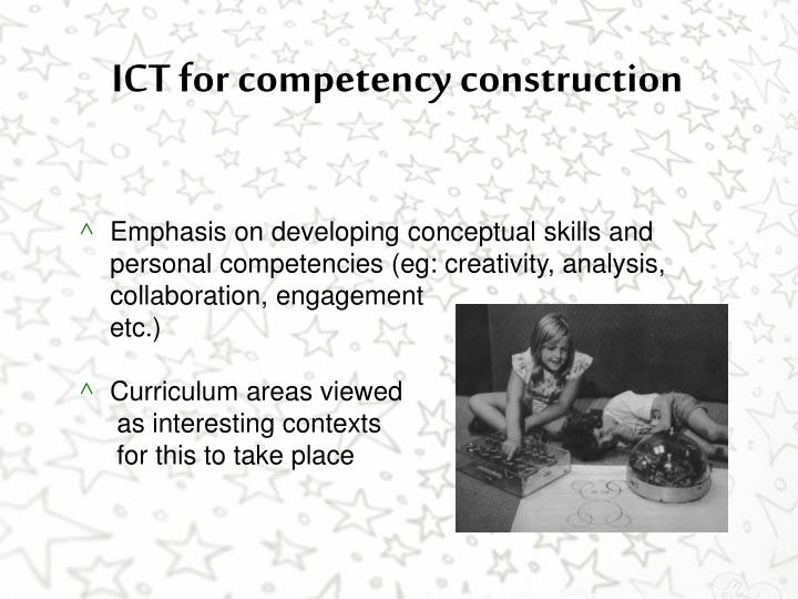 ICT for competency construction