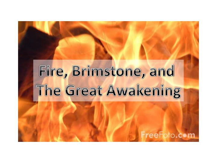 Fire, Brimstone, and