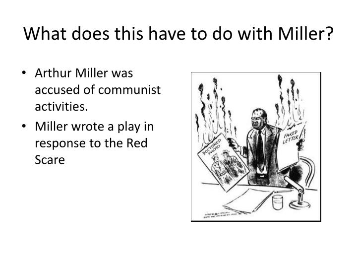 What does this have to do with Miller?