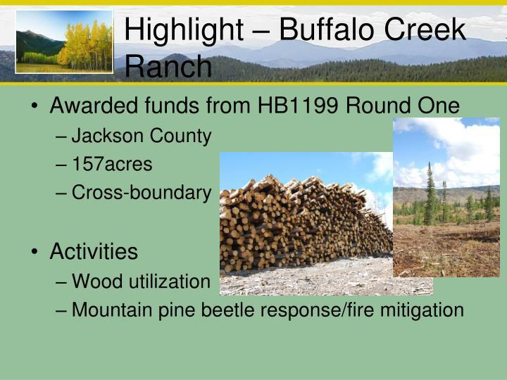 Highlight – Buffalo Creek Ranch