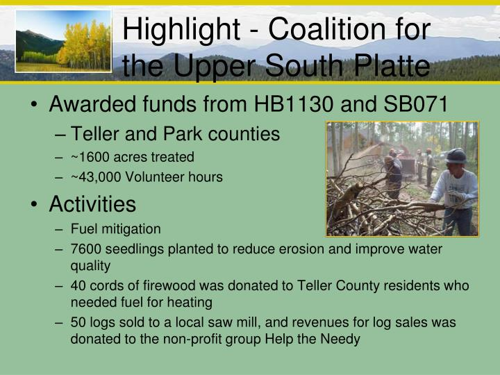 Highlight - Coalition for the Upper South Platte