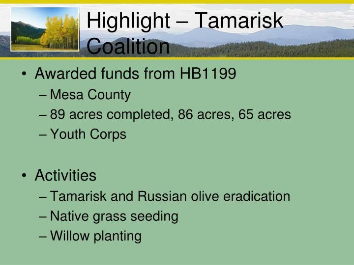 Highlight – Tamarisk Coalition