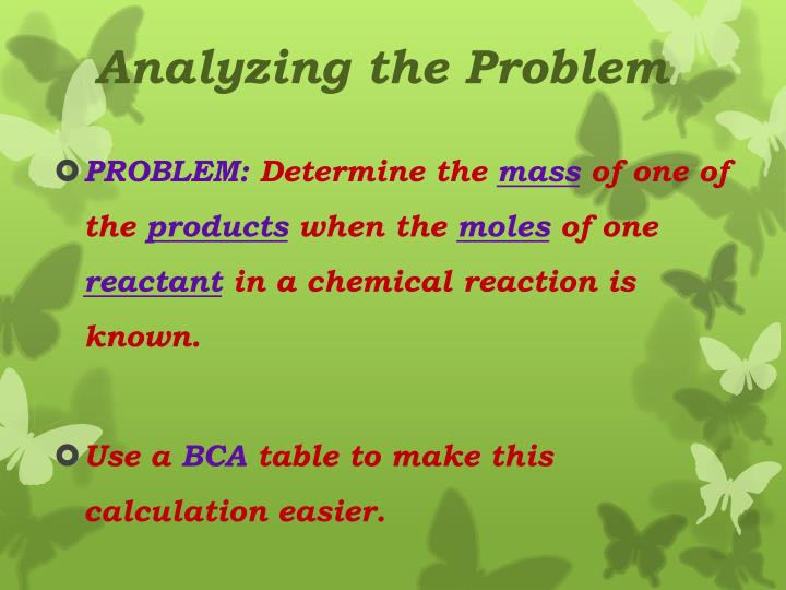 Analyzing the Problem