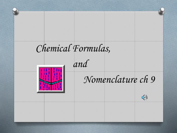 Chemical Formulas,