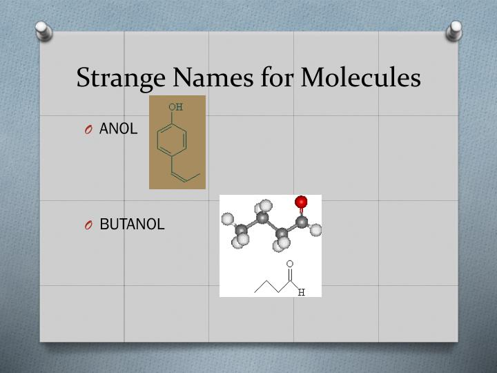 Strange Names for Molecules