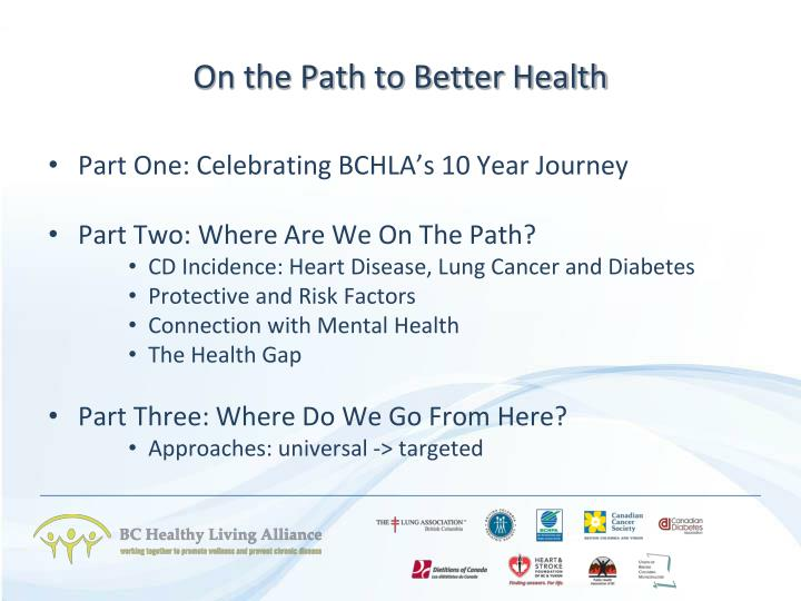 On the path to better health2