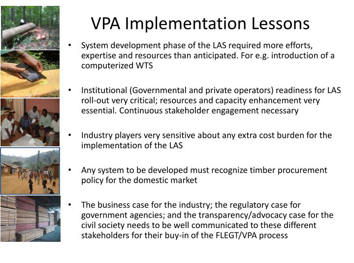 VPA Implementation Lessons