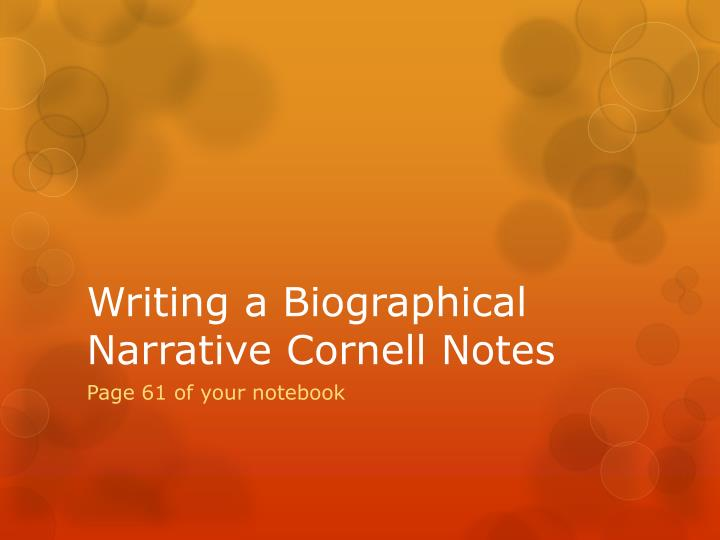 Great Narrative Essays