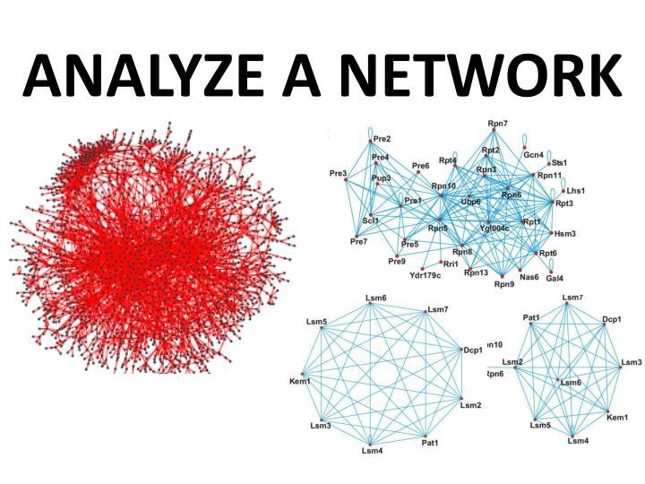 ANALYZE A NETWORK