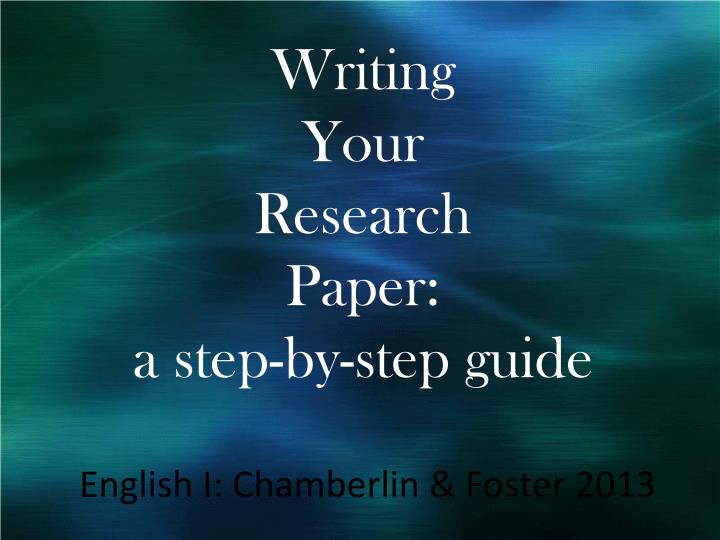 step by step guide to research paper It may be written as a stand-alone paper or to provide a theoretical framework and rationale for a research study (such as a thesis or dissertation) step-by-step guide these guidelines are adapted primarily from galvan (2006.