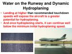 water on the runway and dynamic hydroplaning2
