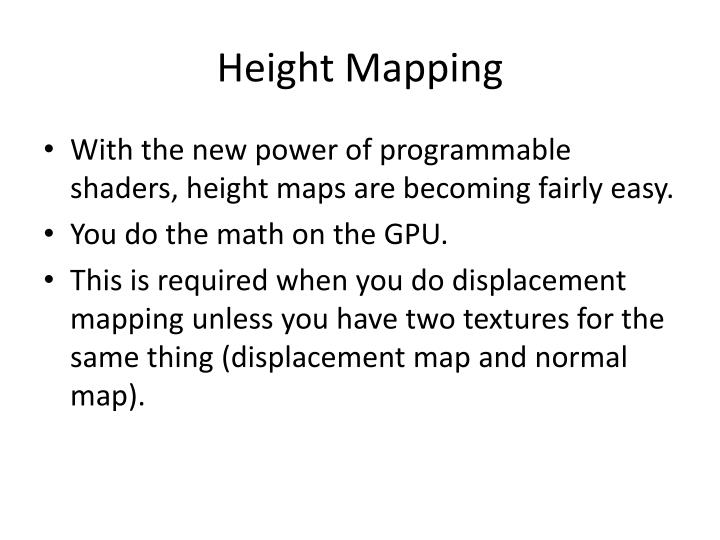 Height Mapping