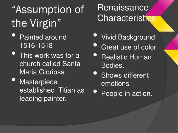 Renaissance Characteristics