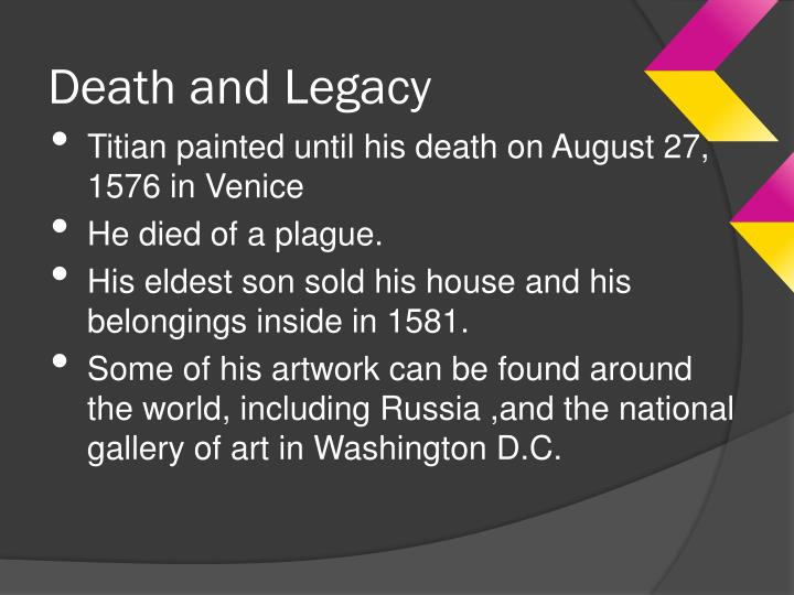 Death and Legacy