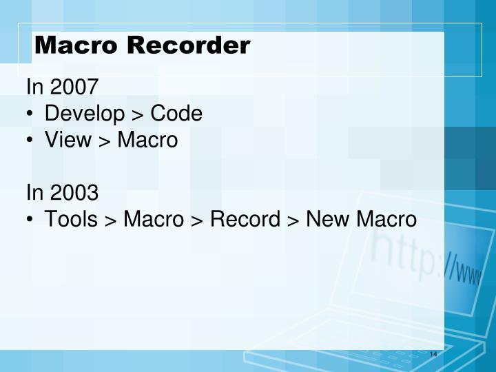 Macro Recorder