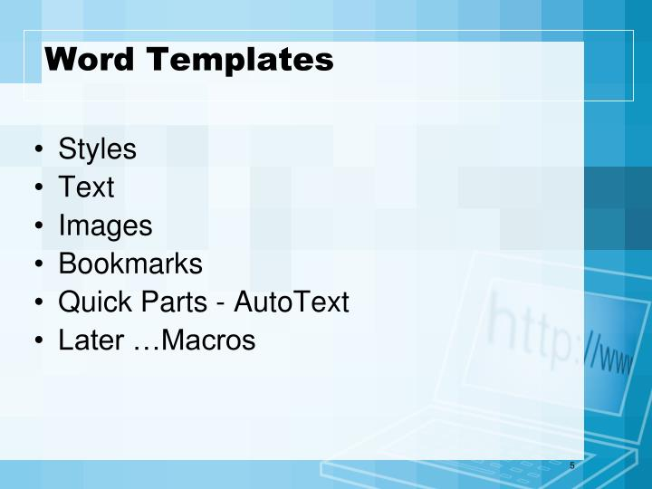 Word Templates