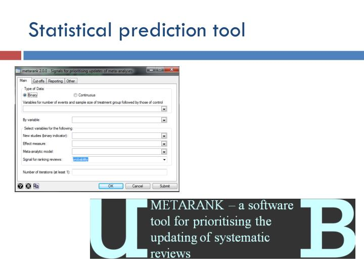 Statistical prediction tool